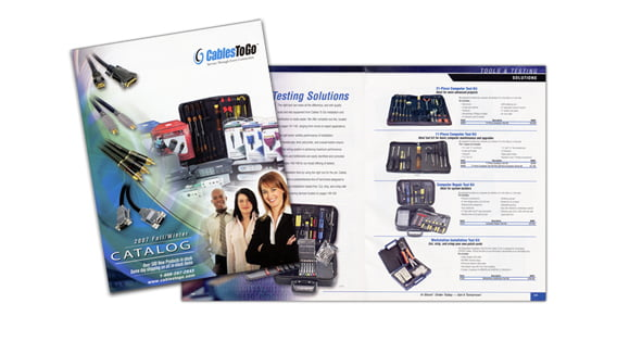 Cables to Go 225 page catalog- Bertke Creative - Freelance Graphic Designer