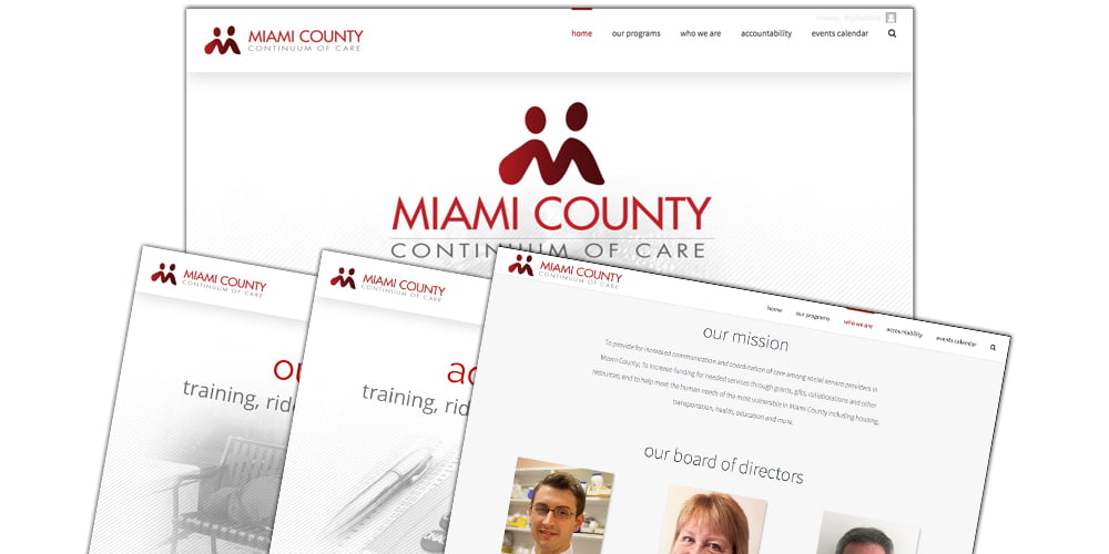 Miami County Continuum of Care Website | Bertke Creative - Dayton Area Freelance Graphic Designer, Marketing and Advertising