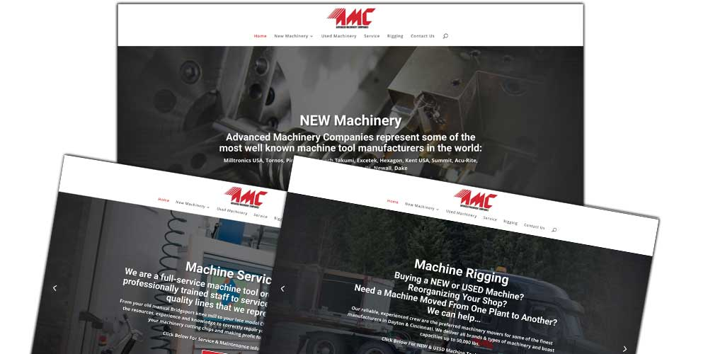 Website Design, SEO (Search Engine Optimization), Image Optimization |Advanced Machinery Website Design