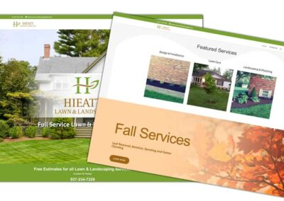 Website Design for Hieatt Lawn & Landscape